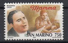 1996 SAN MARINO L. 750 STORIA DELLA CANZONE PER BENIAMINO GIGLI MAMMA   MNH**