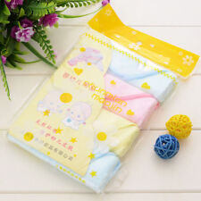 Set of 4 BAMBOO TOWELS NEWBORN BABY GIFT ORGANIC  Face Towel 25 x 25cm