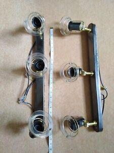 Lot of 2, 3 Industrial Spotlight Adjustable Ceiling Light Bar Lighting