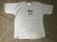 Walt Disney World Italy Epcot World Showcase Men's Large Tee T Shirt Gray