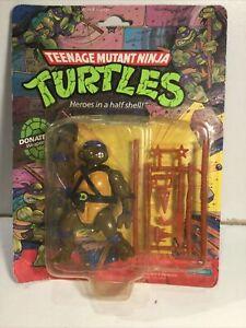 Teenage Mutant Ninja Turtles 1988 Donatello 10 Back Sealed On Card 1988 Playmate