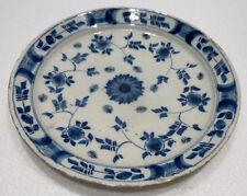 Belle ASSIETTE Ancienne Faïence De Delft XVIIIe Siècle Décors Bleu Blanc