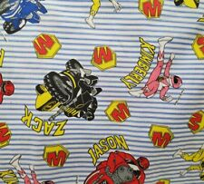 By The Yard Power Ranger Stripe Cotton Fabric 2