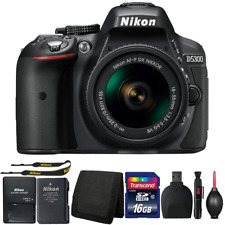 Nikon D5300 DSLR Camera with 18-55mm Lens and Accessory Bundle