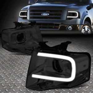FOR 07-14 FORD EXPEDITION FRONT BUMPER LED DRL PROJECTOR HEADLIGHT SMOKED/CLEAR