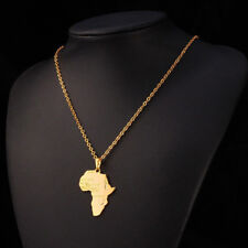 New Fashion Africa Map Silver/Gold Color Necklace African Country Pendant Chain