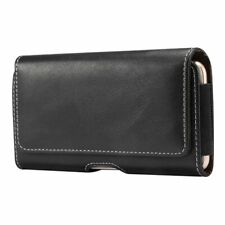 for BLU Vivo One Plus (2019) Holster Horizontal Leather with Belt Loop New De...