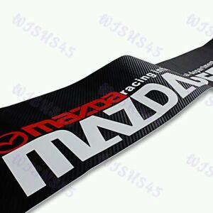 Windshield Carbon Fiber Vinyl Banner For MAZDASPEED Mazda 3 6 RX7 Decal Sticker