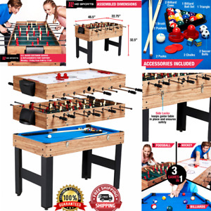 Family Sport Table 3-In-1 Multi Combo Game Foosball Soccer Billiards Pool Hockey
