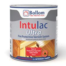 bollom intulac Ultra Manteau Vernis 4 bois ignifugé peinture transparent satin