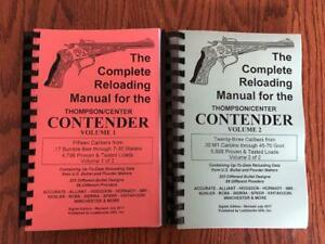 2017 COMPLETE RELOADING MANUAL FOR THE THOMPSON / CENTER CONTENDER VOLUMES 1 & 2