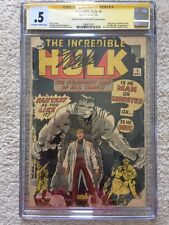 The Incredible Hulk #1 CGC SS .5 Stan Lee 1st Appearance MARVEL 1962 Unrestored