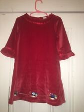 GYMBOREE SZ 18-24m Winter Penguin Girls Red velour dress Holiday