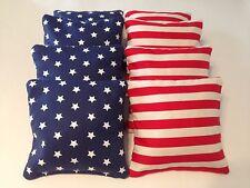 8 AMERICAN FLAG CORNHOLE BEAN BAGS TAILGATE TOSS GAME REGULATION FREE SHIPPING