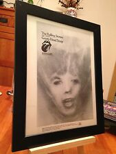 "Framed Original Rolling Stones ""Goats Head Soup"" Lp Album Cd Promo Ad"