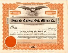 Paracale National Gold Mining Company Stock Certificate Philippines