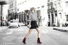 Zara Women's Ankle Boots Velvet
