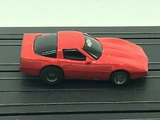Ho Slot Car Tyco 1980's Chevy Corvette C4 Red Painted Magnum 440 Chassis Runs