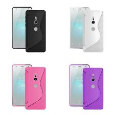 Case For Sony Xperia XZ2 Compact S-Line Silicone Gel Skin Shockproof Phone Cover