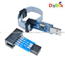 10 Pin Convert to Standard 6 Pin Adapter Board+ USBASP USBISP AVR Programmer USB