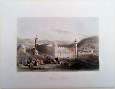 HEBRON, PALESTINE, HEVRON, W.H. BARTLETT, GRAVURE c.1855