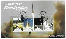 2019   NIUE  -  50th ANNIVERSARY OF MOON LANDING  - MINISHEET ON FDC