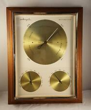 Vtg Mid Century Airguide Weather Station in Wood Frame