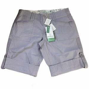 Aventura Womens Arden V2 Shorts Stretch Classic Rise Relaxed Fit Lilac Grey 8