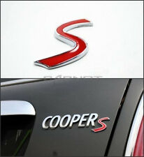 Cooper S Badge Emblema decalcomania lettere sticker MINI COFANO POSTERIORE PORTELLONE BAGAGLIAIO POSTERIORE 36