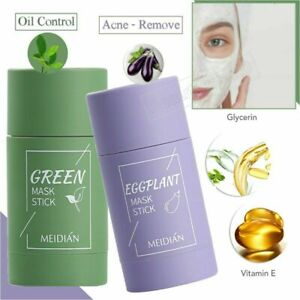 Green Tea Eggplant Purifying Clay Stick Mask Skin Oil Control Anti-Acne Solid US