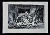 1880 Tour du Monde Print Une Orgie Interrompue - Interrupted Orgy - Philippines