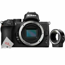 Nikon Z50 20.9MP Mirrorless Digital Camera Body + Nikon FTZ Mount Adapter