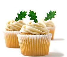 ✿ 24 Edible Rice Paper Cup Cake Toppings, Cake decs - Oak leaves ✿