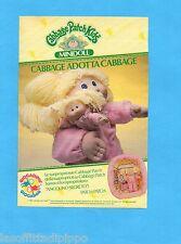 TOP985-PUBBLICITA'/ADVERTISING-1985- GIOCADAG - CABBAGE PATCH KIDS