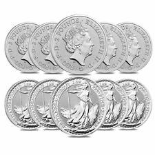 Lot of 10 - 2020 Great Britain 1 oz Silver Britannia Coin .999 Fine BU