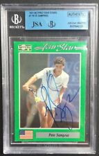 Pete Sampras 1991 Netpro Tennis Rookie Rc Card Auto Usa Jsa Beckett Coa Nm -mint