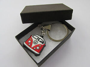 Great Iconic - Retro Gift - Miniature Red Camper Van Charm Keyring - Boxed