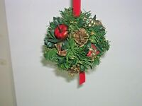 Vintage Christmas Mistletoe Ball Holiday Hanging Decoration Pinecones Toys Apple