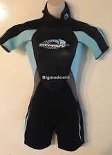 """Osprey womens Shorty Wetsuit Extra Small XS Chest 34"""" H 155-160 sky"""