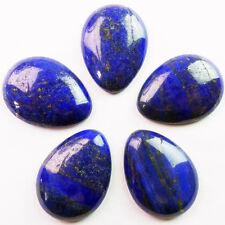 Qsam2380 Hermoso 3pcs Lapis Lazuli en forma de lágrima Cab cabujón 30x40mm