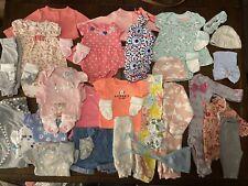 Newborn Lot Of Baby Girl Clothes Carter's Gerber Brand