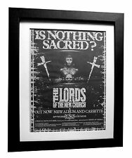 LORDS OF NEW CHURCH+Sacred+POSTER+AD+RARE ORIGINAL 1983+FRAMED+FAST GLOBAL SHIP