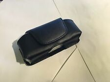 ZTE Telstra F850,F851 Universal Side-Carry Leather Pouch in Black with Belt Clip