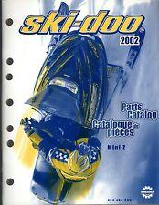 2002 SKI-DOO SNOWMOBILE MINI Z PARTS MANUAL P/N 484 400 283  (191)