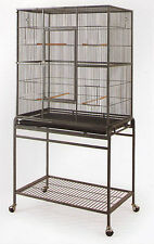 "Large New Bird Parrot Cage Cockatiel Conure 32""x19""x64"" Wrought Iron Flight 908"
