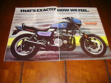 1984 HONDA NIGHTHAWK S ***ORIGINAL 2 PAGE AD***