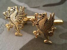 Royal Welch Fusiliers Cufflinks Rampant Dragon RWF