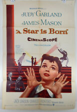 A STAR IS BORN - 1954 ORIGINAL MOVIE POSTER - JUDY GARLAND - JAMES MASON