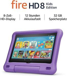 Amazon Fire HD 8 Kids Edition 32GB, Wi-Fi, 8 Zoll -Violette kindgerecht 2020 Neu