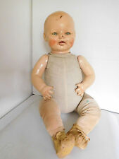 "Vintage 1930's Horsman 21"" Baby Dimples Composition Fixer Doll Hospital"